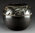 American Indian Art:Pottery, A Large Santa Clara Carved Blackware Jar . Margaret Tafoya. c.1965...
