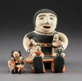 American Indian Art:Pottery, Two Cochiti Polychrome Storytellers. Seferina Ortiz... (Total: 2Items)