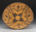 American Indian Art:Baskets, An Apache Pictorial Coiled Bowl. c. 1900. ...