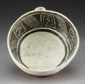 American Indian Art:Pottery, An Anasazi Black-On-White Bowl. c. 1200 AD...