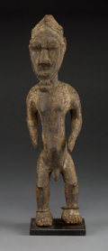 Tribal Art, An Ivory Coast Standing Male Figure...