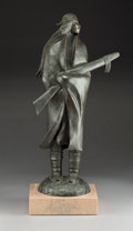 American Indian Art:Wood Sculpture, Allan Houser (Apache, 1914 - 1994). Night Guard. c. 1985...