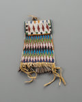 American Indian Art:Beadwork and Quillwork, An Apache Beaded Hide Strike-A-Light Bag. c. 1890...