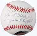 "Autographs:Baseballs, Joe DiMaggio ""Yankee Clipper"" Single Signed Portrait Baseball.. ..."