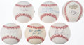 Autographs:Baseballs, Pitching Greats Single Signed Baseball Lot of 6.. ...