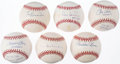 Autographs:Baseballs, Los Angeles Dodgers Single Signed Baseball Lot of 6.. ...