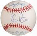Autographs:Baseballs, 300 Win Club Multi-Signed & Inscribed Baseball (9 Signatures).. ...
