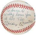 "Autographs:Baseballs, Mickey Mantle ""To Susie Q"" Single Signed Baseball.. ..."