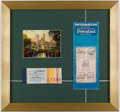 Miscellaneous Collectibles:General, Walt Disneyland Tickets & Booklet Print.. ...