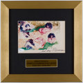 Autographs:Others, LeRoy Neiman Signed Expressionist Art Print.. ...