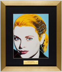 Grace Kelly Framed Print by Andy Warhol