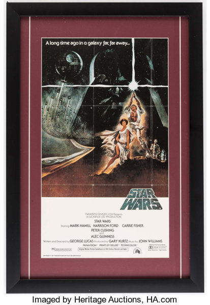 framed star wars poster miscellaneous collectibles general
