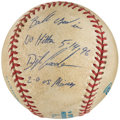 "Autographs:Baseballs, 1996 Dwight Gooden Game Used Single Signed ""No Hitter"" Baseball....."