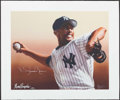 Autographs:Others, Mariano Rivera Signed Gary Longordo Print.. ...