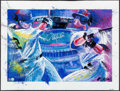 Autographs:Others, 2004 Derek Jeter Signed Bill Lopa Limited Edition Giclee Print.....