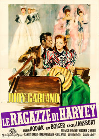 "The Harvey Girls (MGM, 1949). First Post-War Release Italian 4 - Fogli (55"" X 77"") Ercole Brini Artwork"