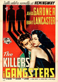 "Movie Posters:Film Noir, The Killers (Universal International, R-1957). Italian 2 - Fogli(39"" X 55"").. ..."