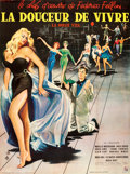 """Movie Posters:Foreign, La Dolce Vita (Consortium Pathé, 1960). Full-Bleed French Grande (46"""" X 62"""") Yves Thos Artwork.. ..."""