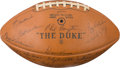 Football Collectibles:Balls, 1969 Green Bay Packers Team Signed Football. ...