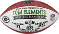 Football Collectibles:Balls, 2011 Green Bay Packers Super Bowl XLV Football Presented to Offensive Coordinator Tom Clements....