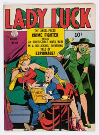 Lady Luck #90 (Quality, 1950) Condition: FN+