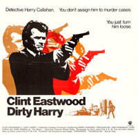 "Dirty Harry (Warner Brothers, 1971). International Six Sheet (79.5"" X 77"")"