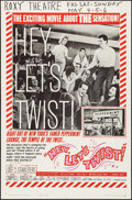 """Movie Posters:Rock and Roll, Hey, Let's Twist (Paramount, 1962). Folded, Fine/Very Fine. One Sheet (27"""" X 41""""). Rock and Roll.. ..."""