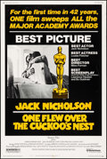 """Movie Posters:Academy Award Winners, One Flew Over the Cuckoo's Nest (United Artists, 1975). Poster (40"""" X 60""""). Academy Award Winners.. ..."""