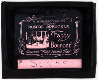 """Fatty's Faithful Fido (W.H. Productions, R-1918). Glass Slide (3.25"""" X 4"""") Reissue Title: Fatty the Bouncer. C..."""