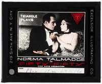 "Fifty-Fifty & Other (Triangle, 1916). Very Fine-. Glass Slides (2) (3.25"" X 4""). Drama. ... (Total: 2..."
