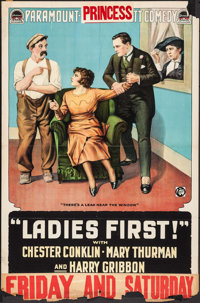 """Ladies First (Paramount, 1918). One Sheet (28"""" X 41""""). Comedy"""