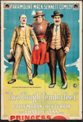 """Movie Posters:Comedy, Two Tough Tenderfeet (Paramount, 1918). Folded, Fine+. One Sheet(28"""" X 41""""). Comedy.. ..."""