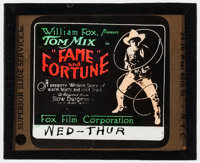 """Fame and Fortune (Fox, 1918). Glass Slide (3.25"""" X 4""""). Western"""