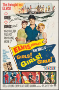 "Movie Posters:Elvis Presley, Girls! Girls! Girls! (Paramount, 1962). Folded, Fine+. One Sheet(27"" X 41""). Elvis Presley.. ..."