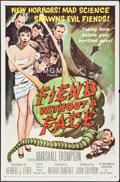 "Movie Posters:Science Fiction, Fiend without a Face (MGM, 1958). One Sheet (27"" X 41""). ScienceFiction.. ..."