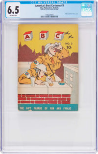 America's Best Cartoons #3 (Wise Publications, 1942) CGC FN+ 6.5 Off-white pages