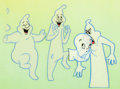 Animation Art:Production Cel, The New Casper Cartoon Show Casper and Ghostly TrioProduction Cel Setup (Harveytoons/Paramount, 1963). ...