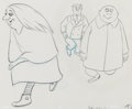 Animation Art:Production Drawing, The Addams Family Granny Frump, Gomez, and Uncle FesterAnimation Drawings Sequence of 2 (Hanna-Barbera, 1992).... (Total:2 Original Art)