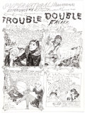 "Original Comic Art:Complete Story, Dame Darcy Meat Cake #2 Complete 2-Page Story ""Trouble Double"" Original Art (Fantagraphics, 1993).... (Total: 2 Original Art)"