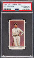 Baseball Cards:Singles (Pre-1930), 1909-11 E90-1 American Caramel Joe Jackson PSA Authentic. ...