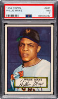 Baseball Cards:Singles (1950-1959), 1952 Topps Willie Mays #261 PSA NM 7. ...