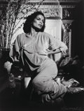 Photographs:Gelatin Silver, George Hurrell (American, 1904-1992). Bianca Jagger as Jean Harlow, Los Angeles, 1973. Gelatin silver. 9 x 7 inches (22....