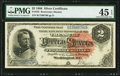 Large Size:Silver Certificates, Fr. 243 $2 1886 Silver Certificate PMG Choice Extremely Fine 45EPQ.. ...