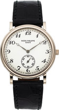 Timepieces:Wristwatch, Patek Philippe Ref. 5022G Calatrava Officer White Gold Wristwatch. ...