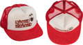 Music Memorabilia:Autographs and Signed Items, Lynyrd Skynyrd Signed Trucker-Style Hat (Circa 1976-77)....