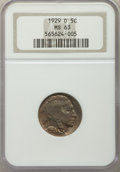 Buffalo Nickels: , 1929-D 5C MS63 NGC. NGC Census: (186/425). PCGS Population:(335/900). CDN: $95 Whsle. Bid for problem-free NGC/PCGS MS63. ...