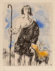 Marc Chagall (1887-1985) Untitled (Shepard), from Bible, 1958 Etching in colors on wove paper 11-7/8 x 9-3/8 inch