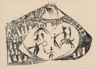 Pablo Picasso (1881-1973) Le Cirque, 1945 Lithograph on paper, 1st state 12-3/4 x 17-1/2 inches (