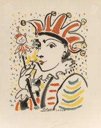 After Pablo Picasso Carnaval, 1958 Lithograph in colors on Arches paper 19 x 14-1/2 inches (48.3