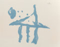 Fine Art - Work on Paper:Print, Robert Motherwell (1915-1991). Summer Trident, fromHarvey Gantt Portfolio, 1970. Lithograph in colors withchine co...